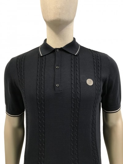 TR8360 Cable Knitted Polo Shirt