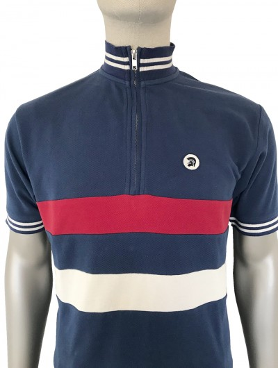 TR8426 Stripe Front Cycling Polo