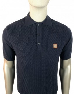 TR8508 Chevron Panel Knitted Polo