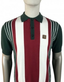 TR8504 Multi Stripe Knitted Polo