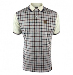 TR8568 Check Panel Polo Shirt