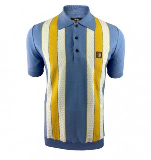 TR8608 Textured Stripe Knitted Polo