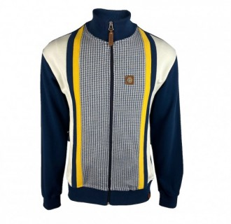 TR8501 Houndstooth Panel Track Top