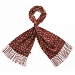 TL7907 Placed Print Fringed Scarf