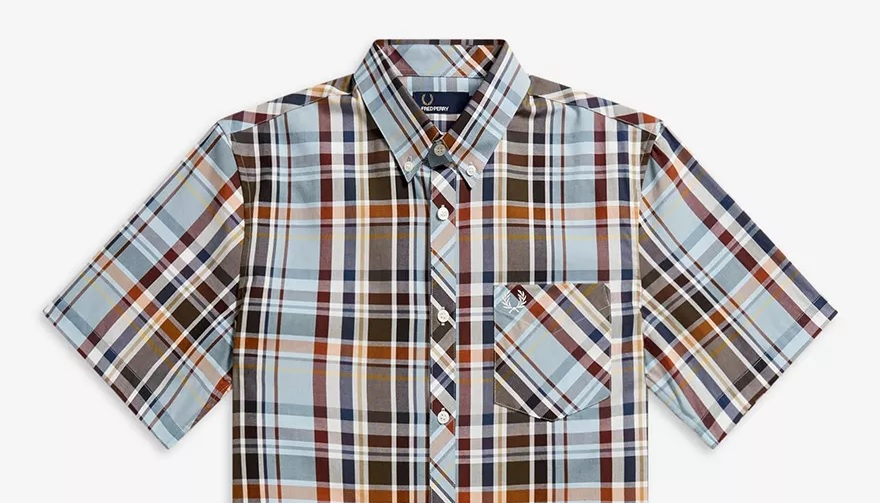 Fred Perry Madras check shirt